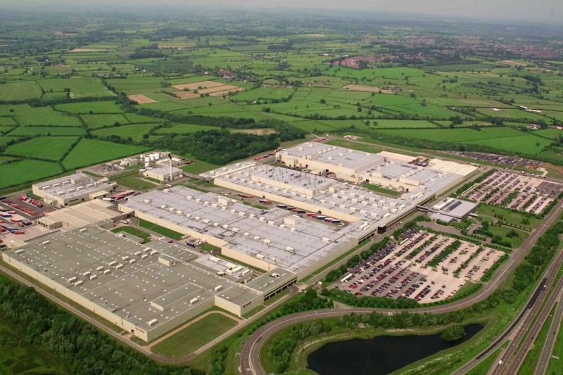 Toyota's TMUK plant in Burnaston, Derbyshire